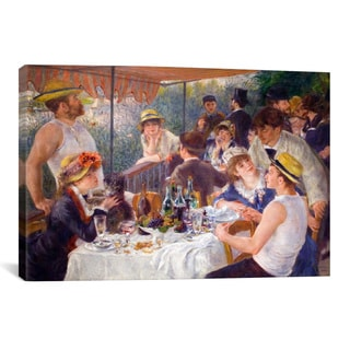 iCanvas The Luncheon of the Boating Party by Auguste Renoir Canvas Print Wall Art