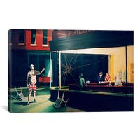iCanvas Banksy Nighthawks Canvas Print Wall Art