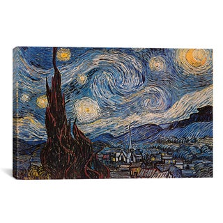 iCanvas The Starry Night by Van Goghe Canvas Print Wall Art