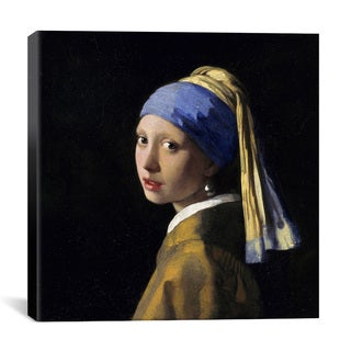 iCanvas Johannes Vermeer 'Girl with a Pearl Earring' Canvas Print Wall Art