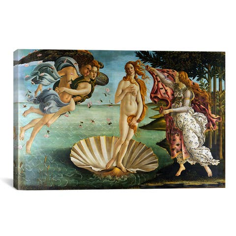 iCanvas The Birth of Venus by Botticelli Sandro Canvas Print Wall Art