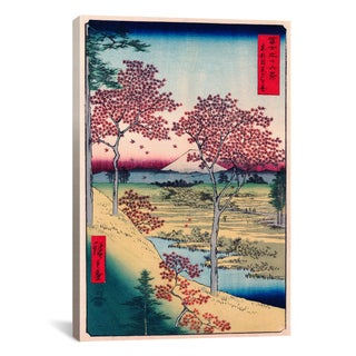 iCanvas View of The Sunset At Meguro, Edo by Ando Hiroshige Canvas Print Wall Art
