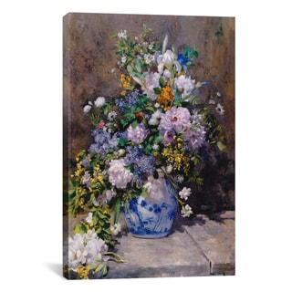iCanvas Spring Bouque (grande Vaso Di Fiori) by Auguste Renoir Canvas Print Wall Art