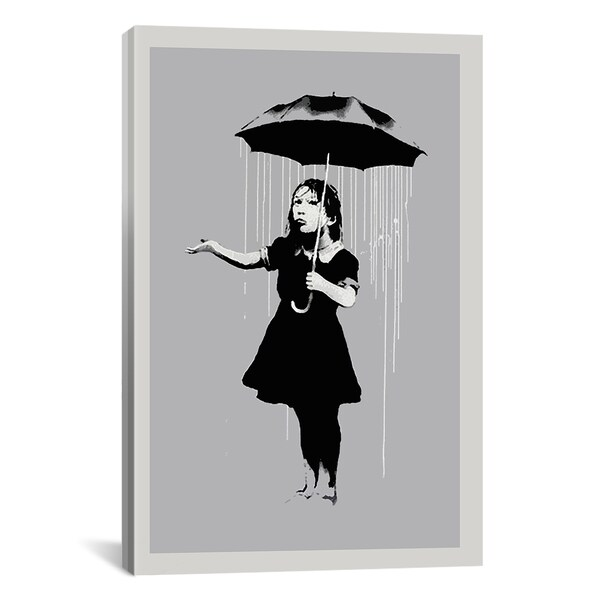 Shop iCanvas Banksy Nola Girl With Umbrella Canvas Print Wall Art ...