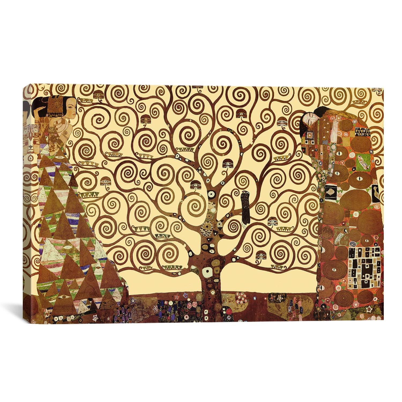 iCanvas The Tree of Life by Gustav Klimt Canvas Print Wall Art ...