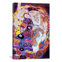 iCanvas Virgin by Gustav Klimt Canvas Print Wall Art