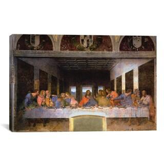 iCanvas The Last Supper, by Leonardo Da Vinci Canvas Print Wall Art