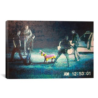 iCanvas Banksy Lapd Pinata Canvas Print Wall Art