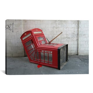 iCanvas Banksy London Phone Booth Canvas Print Wall Art