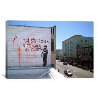 iCanvas Banksy This'll Look Nice When Its Framed Canvas Print Wall Art