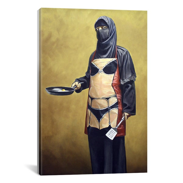 iCanvas Banksy How Do You Like Your Eggs Canvas Print Wall Art