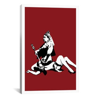 iCanvas Banksy 'Queen Victoria Lesbian' Canvas Print Wall Art