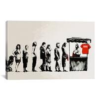 iCanvas Banksy Destroy Capitalism Canvas Print Wall Art