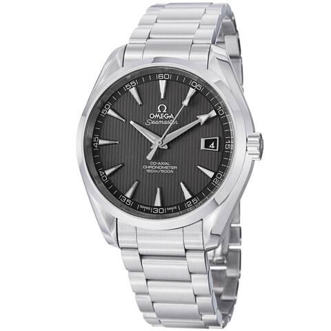 Omega Men's 'AquaTerra' Teak Grey Dial Stainless Steel Watch