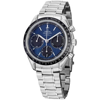 Omega Men's 326.30.40.50.03.001 'Speedmasteracing' Blue Dial Stainless Steel Watch