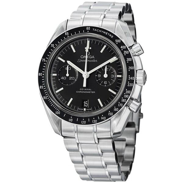 Omega Men's 311.30.44.51.01.002 'SpeedmasterMoon' Black Dial Stainless Steel Watch. Opens flyout.