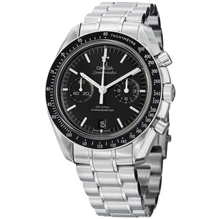 Omega Men's 311.30.44.51.01.002 'SpeedmasterMoon' Black Dial Stainless Steel Watch