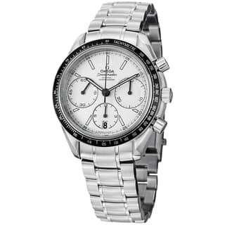 Omega Men's 326.30.40.50.02.001 'Speedmasteracing' Silver Dial Stainless Steel Watch|https://ak1.ostkcdn.com/images/products/8762622/Omega-Mens-326.30.40.50.02.001-Speedmasteracing-Silver-Dial-Stainless-Steel-Watch-P16005003.jpg?impolicy=medium