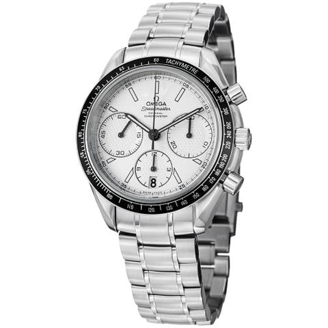 Omega Men's 326.30.40.50.02.001 'Speedmasteracing' Silver Dial Stainless Steel Watch