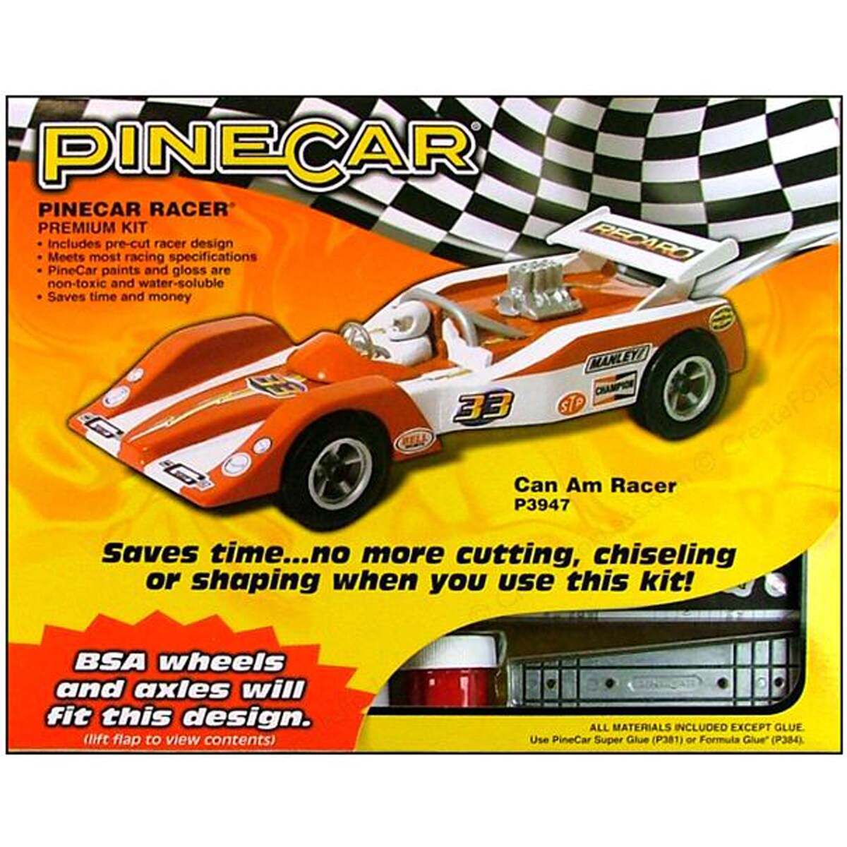 Pinepro Pine Car Derby Racer Premium Kit-Can Am (Can Am),...