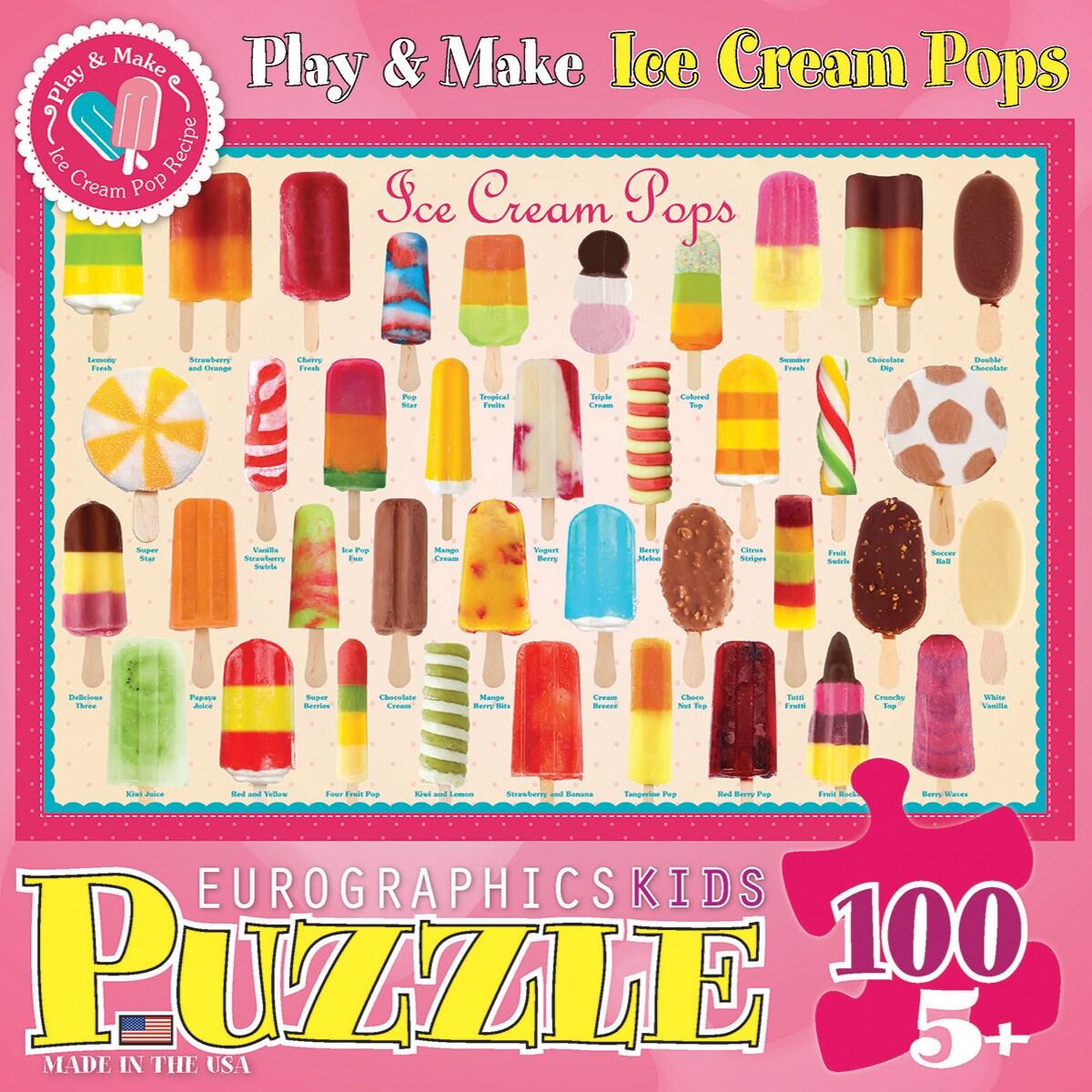 Eurographics Ice Cream (Ivory) Pops Puzzle 100 Pieces (Ic...