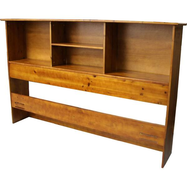 Shop Durabed King Bed Frame With All Wood Bookcase Headboard