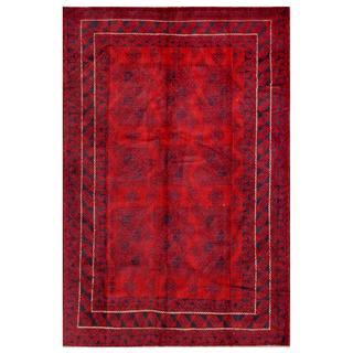 Handmade One-of-a-Kind Balouchi Wool Rug (Afghanistan) - 6'2 x 9'2