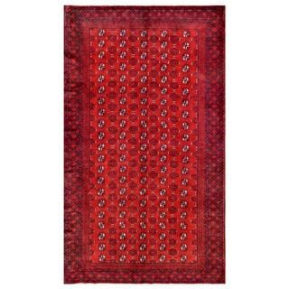 Herat Oriental Afghan Hand-knotted Tribal Balouchi Red/ Navy Wool Rug (5'5 x 9'6)