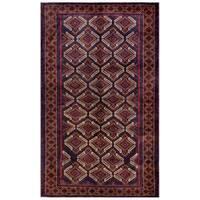 Herat Oriental Afghan Hand-knotted Tribal Balouchi Wool Rug (6' x 10') - 6' x 10'