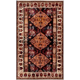 Herat Oriental Afghan Hand-knotted Tribal Balouchi Wool Rug (5'3 x 8'8)