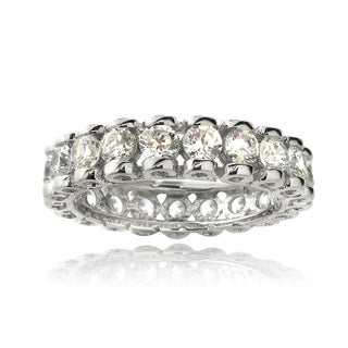 Icz Stonez Sterling Silver Cubic Zirconia Eternity Ring (3 4/5ct TGW)