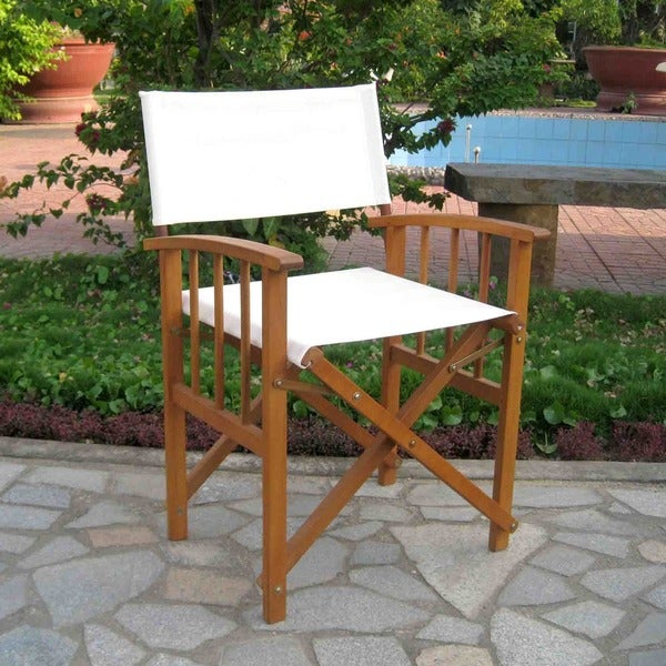 International Caravan Acacia Mission Style Directors Chair (Set Of 2)