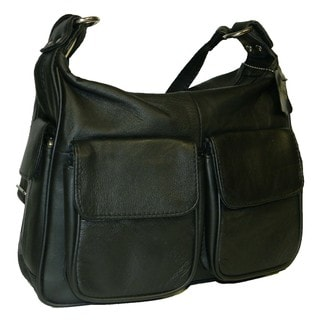 Hollywood Tag Women's Black Leather Handbag