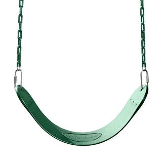 """Swing-N-Slide Green Swing Seat with Green Coated Chains - 27"""" L x 5.5"""" W x 60"""" H"""