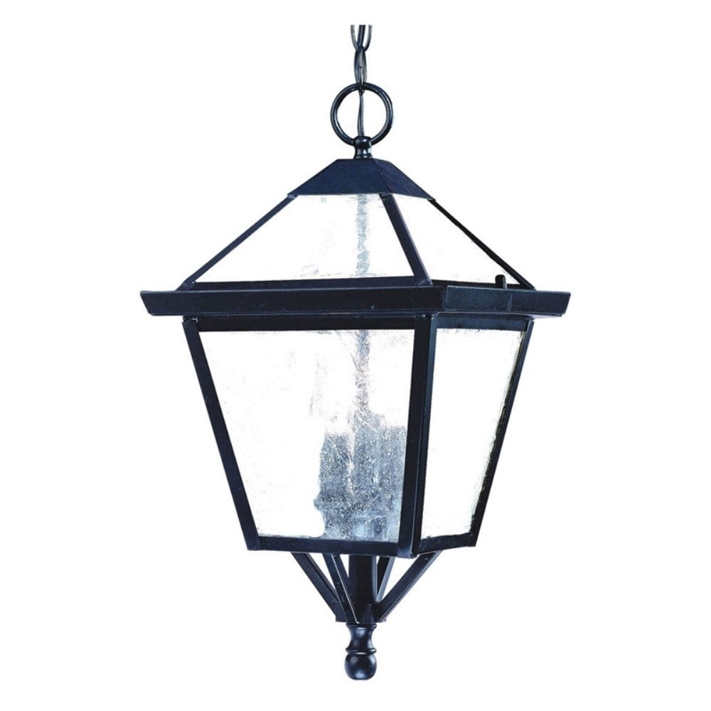 Bay Street 3 Light Matte Black Outdoor Hanging Lantern