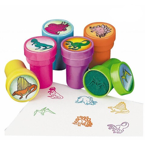 Fun Express Plastic Dinosaur Stampers (6-piece Kit)