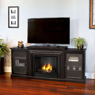 Real Flame Frederick Blackwash 72 in. L x 15.5 in. D x 30.1 in. H Gel Entertainment Fireplace