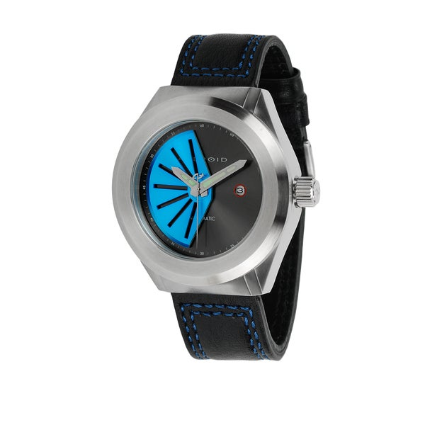 android s rotator 50 automatic black leather blue