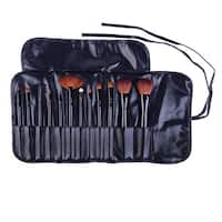 SHANY Professional 12-piece Natural Goat and Badger Cosmetic Pink Brush Set with Pouch