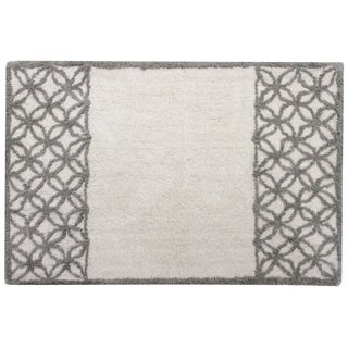 Sherry Kline Fresh Lattice Design Cotton 21 x 34 Bath Rug