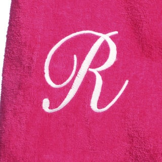 Ladies Cotton Hot Pink Bath Body Wrap with Monogram