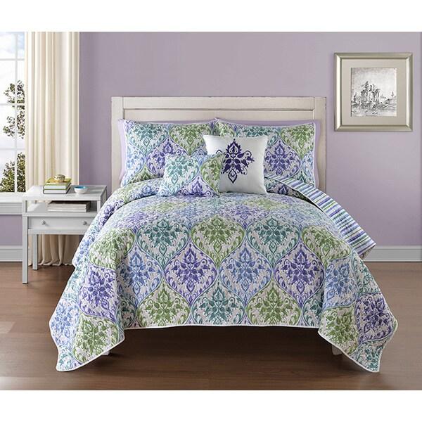 VCNY Gabrielle Multicolor Floral Reversible 5-piece Quilt Set