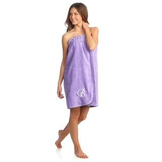 Ladies Cotton Hyacinth Bath Body Wrap with Monogram