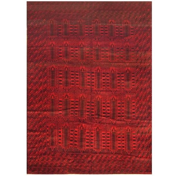 Handmade Herat Oriental Afghan Tribal Balouchi Wool Rug - 9'5 x 13'7 (Afghanistan)