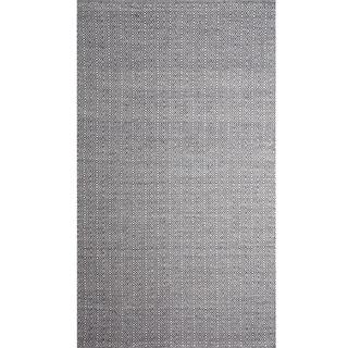 Diamond Line Raw Wool Area Rug