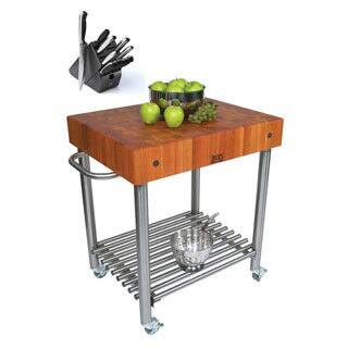Buy Stainless Steel Butcher Blocks Online At Overstockcom Our - Stainless steel table with butcher block top