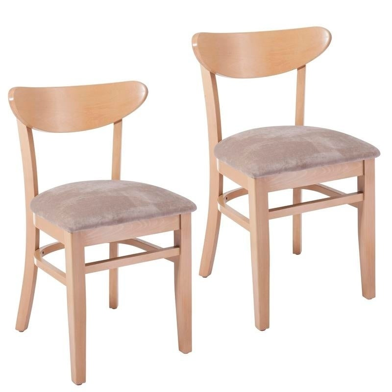 Marvelous Kidney Beechwood Dining Chair Set Of 2 Pabps2019 Chair Design Images Pabps2019Com