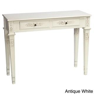 International Caravan Windsor Carved Rectangular Console Table