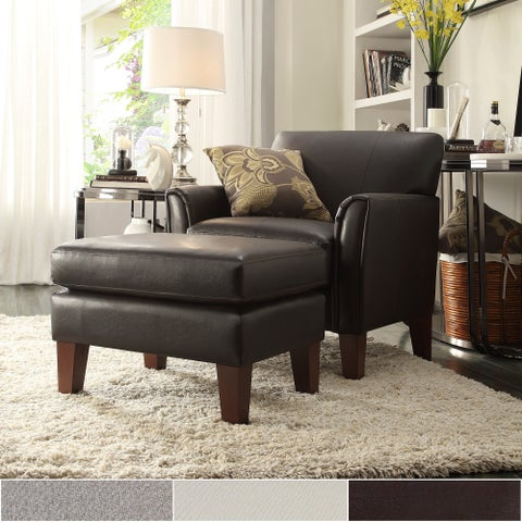 Uptown Modern Accent Chair and Ottoman by iNSPIRE Q Classic