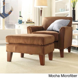 TRIBECCA HOME Uptown Modern Accent Chair and Ottoman